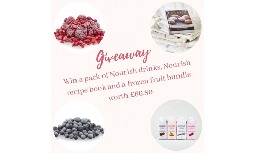Win a Nourish Recipe Book, 4 Drinks and a Frozen Fruit Bundle Worth £66.80!