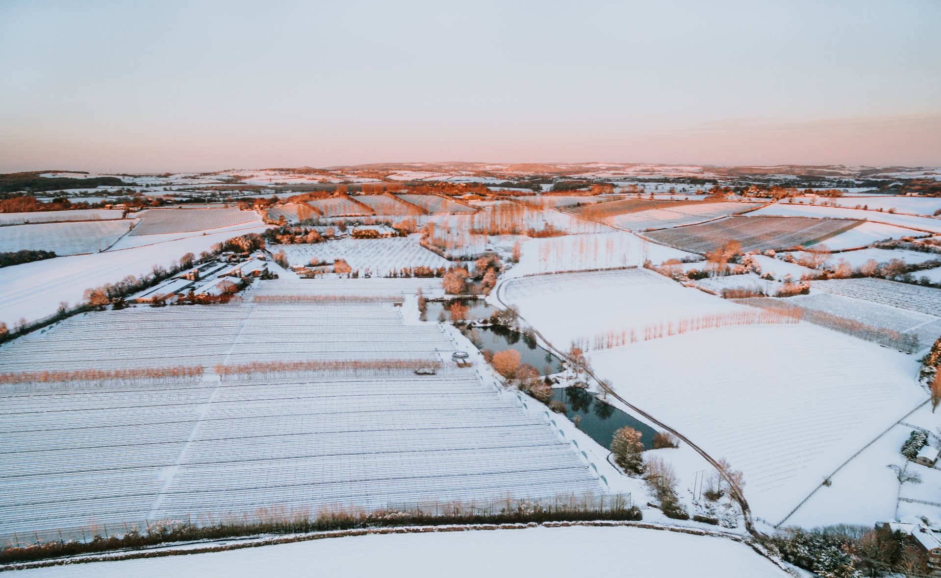 Ariel View in Snow