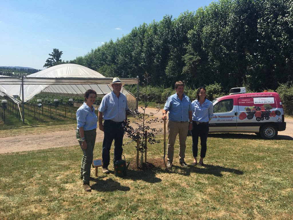 Tree Planting for launch of LEAF Demonstration Farm
